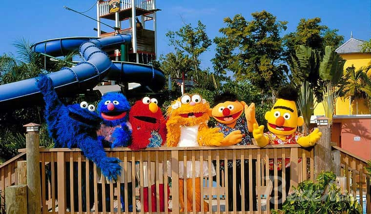 sesame street characters at the beaches negril all inclusive family resort