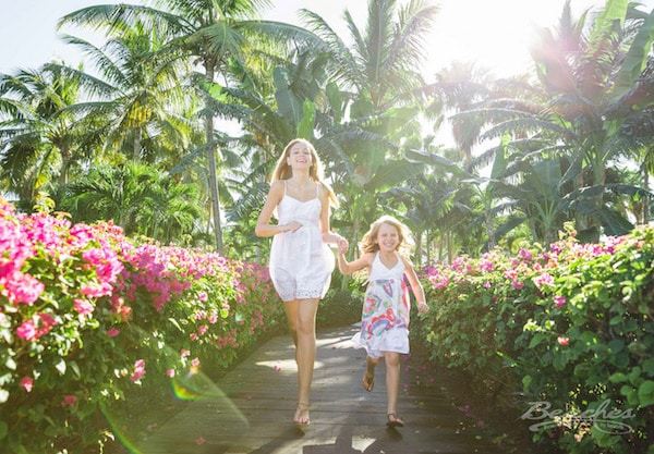 beaches turks and caicos all inclusive family resorts Caribbean village, children running through garden