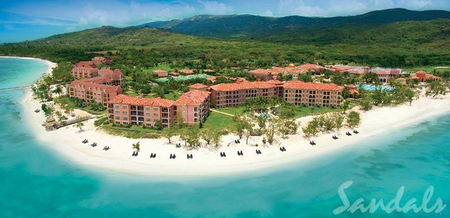 birdeye view Sandals former Whitehouse, new South Coast Jamaica All Inclusive Resort, perfect for all inclusive destination weddings, planned by Southern Travel Agency Augusta, GA