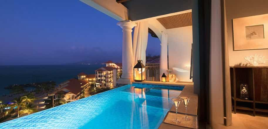 Sandals LaSource Grenada, view from the resort room, perfect for all inclusive destination weddings