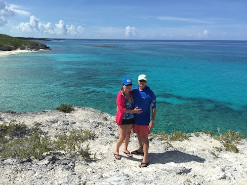 Michael and Lauren Kerbelis, owners and luxury travel advisors with Southern Travel Agency Augusta, GA, at their luxury Sandals adults only resort