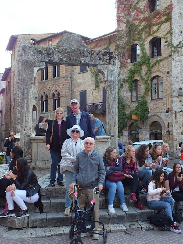 family with friends on their luxury all inclusive group vacations trip through Europe
