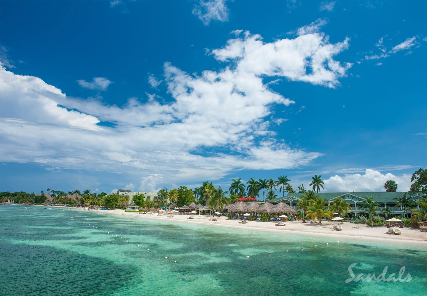 Perfect For All Inclusive Sandy Beach And Blue Ocean Water At The Sandals Negril Resort In Jamaica