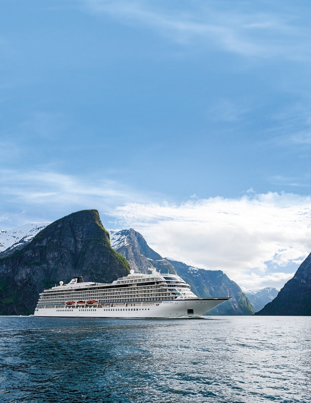 Viking Cruises Viking Star 5 near the fjords of Flam, Norway, planned by Southern Travel Agency Augusta, GA
