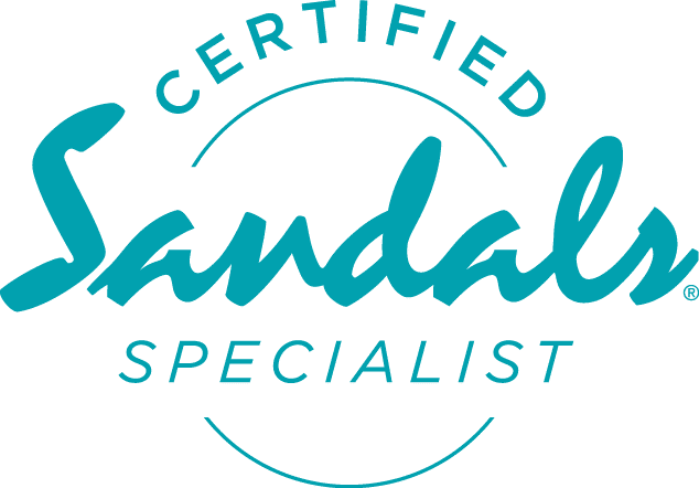 certified Sandals specialist logo