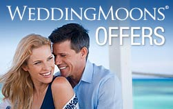smiling couple on Sandals WeddingMoon offers promotion