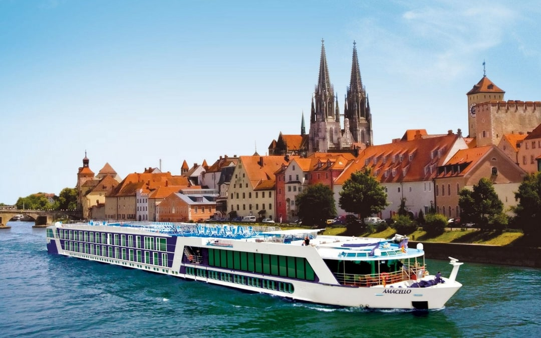 Ama Waterways AmaCella in Regensburg, Germany, luxury European river cruises