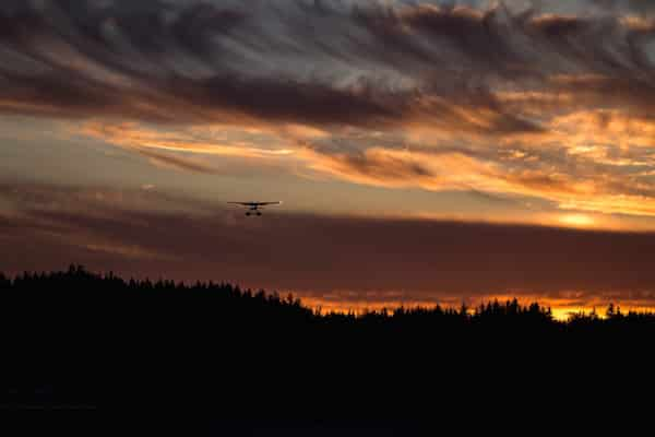 luxury Alaska vacation plane tour over forests