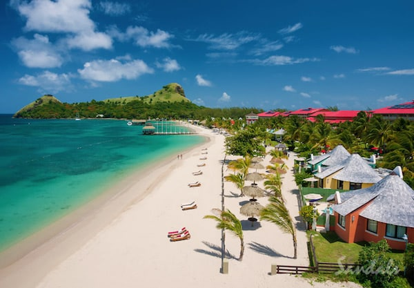 Sandals Grande St. Lucian white sand beach, Sandals resort news