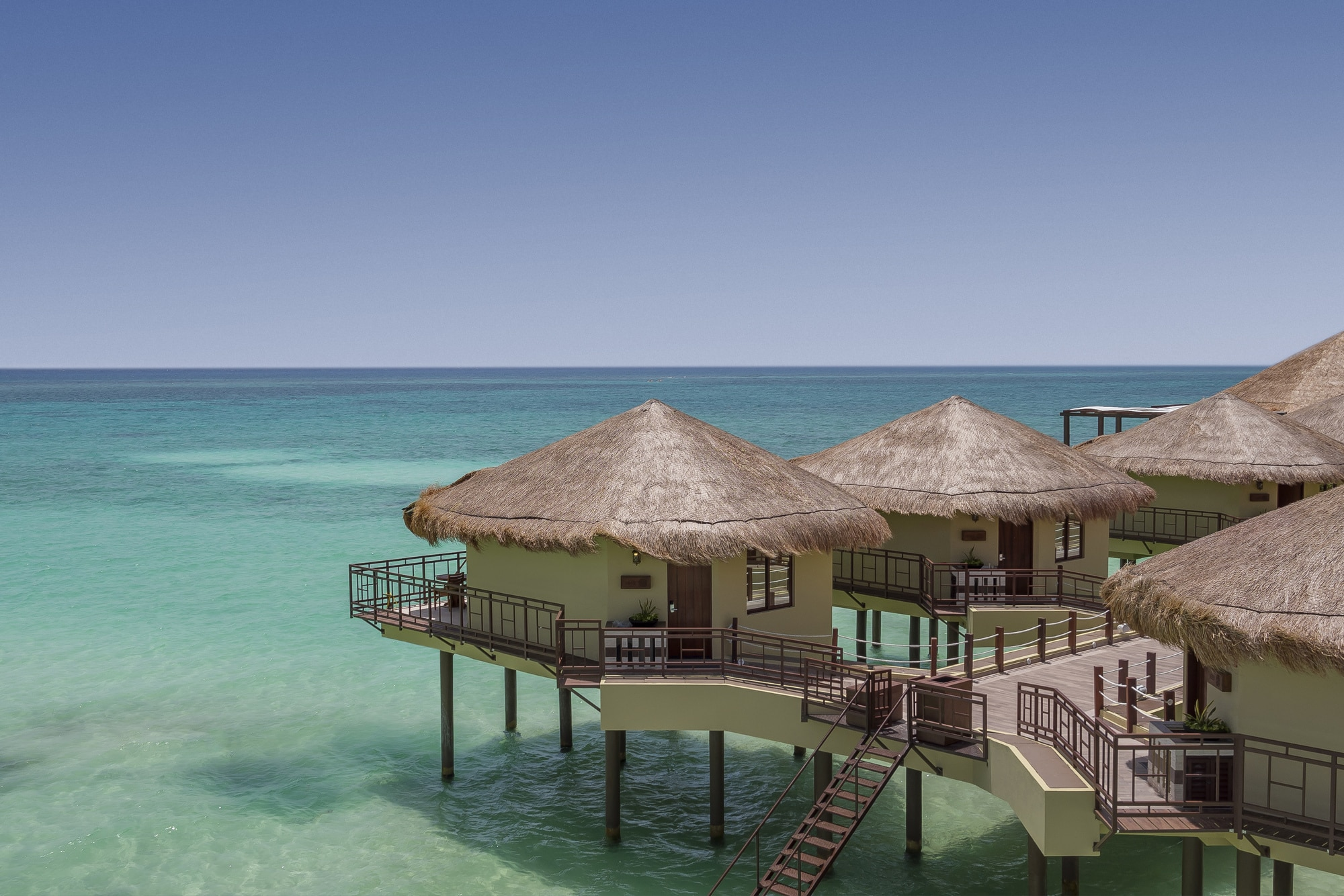 Palafitos at El Dorado Maroma, luxury overwater bungalows on the Maroma Beach in Riviera Maya, Mexico