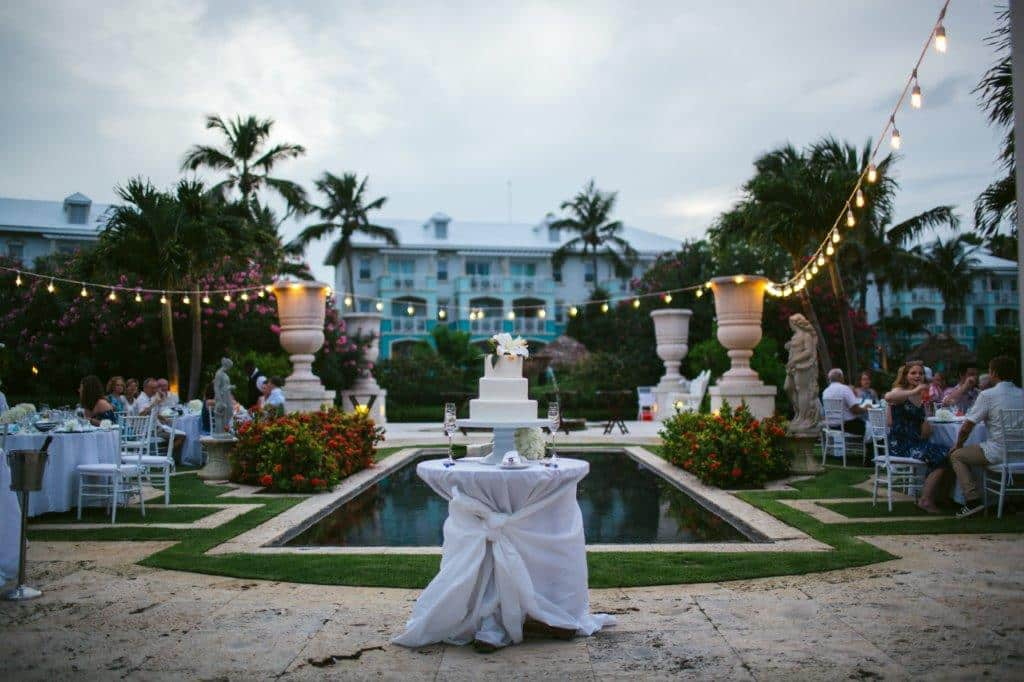 destination wedding at Sandals emerald bay wedding reception