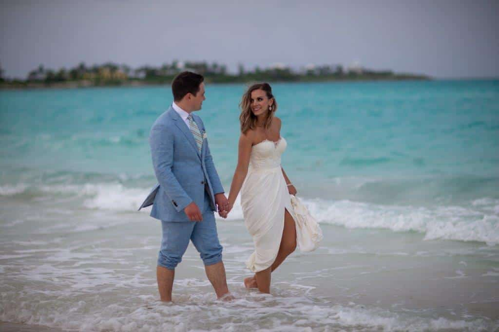 destination wedding at sandals emerald bay couple beach