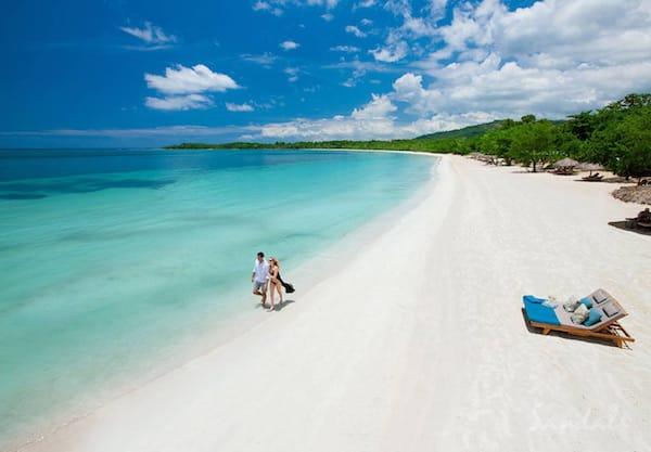 best honeymoon resorts sandals south coast beach couple