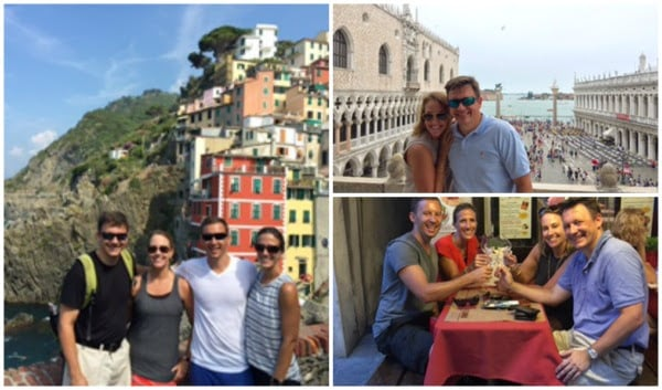 an American family traveling to Italy, custom family group trips to Italy