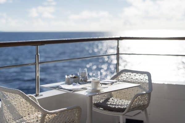 luxury crystal cruises dining on deck