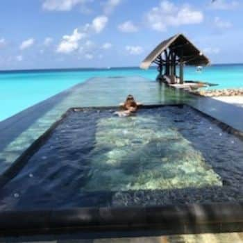 kids playing in the ocean, The One & Only Reethi Rah Maldives Resort Hotel
