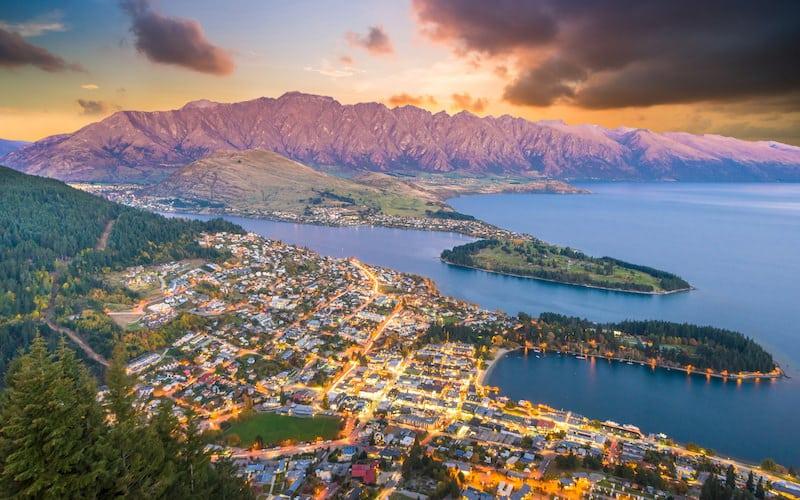 Queenstown, New Zealand, sunny travel destinations