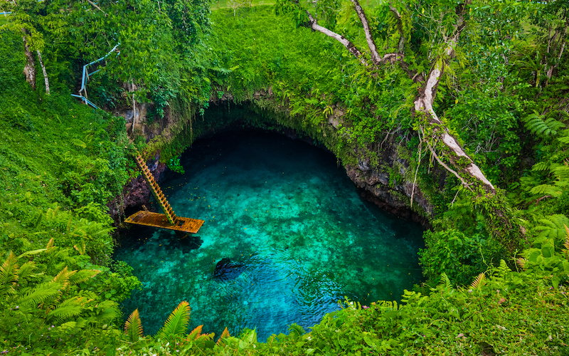 Samoa, sunny travel destinations
